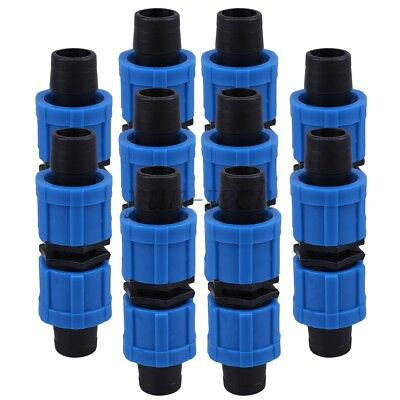 10x Straight-Through Joint 16mm Drip Irrigation Fitting Tape Coupling Connectors