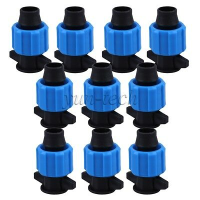 16mm Drip Garden Irrigation Fitting Pull Plug Tape Coupling Coupler Pack Of 10