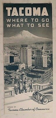 Vintage See Tacoma street & road map, sites, WA State