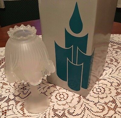 Retired PartyLite Clairmont Tealight Lamp w/ Frosted Glass P0373