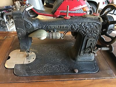 White Rotary Vintage Sewing Machine Antique Electric