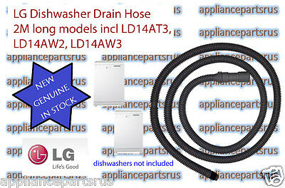 LG Dishwasher Drain Hose - Part No 5215ED3001B - NEW - GENUINE - 2 Metres long.