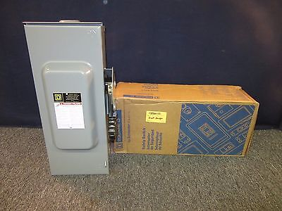 Square D Safety Switch 100A 100 Amp 600V Hu363Rb Electrical Breaker Box F05 New