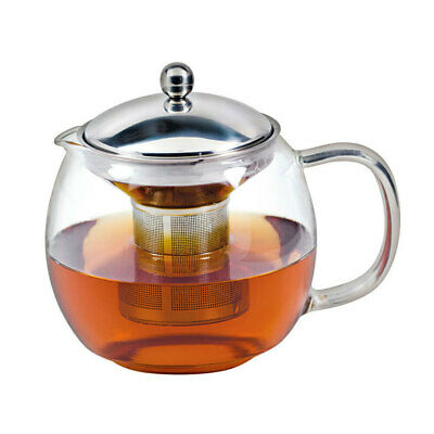 Avanti 1.5L Ceylon Glass Teapot w/ Removable Stainless Steel Infuser Tea Pot