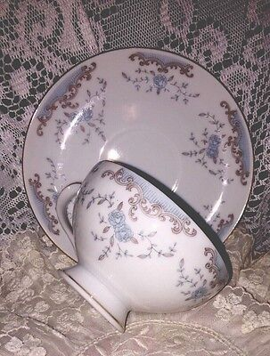 Vintage SEVILLE Imperial China  TEA CUP & SAUCER In Blue / White