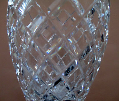 Antique/Vintage English Colonial-style Diamond Cut Crystal Vase