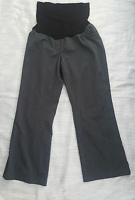 Two Hearts Maternity Dress Pants Stretch Career Dark Gray Size Large