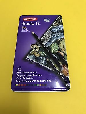 Derwent Studio Pencils 12 Tin