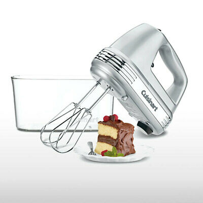 Cuisinart HM-90BCSA Silver 9 Speed Electric Hand Mixer w/ Storage Case LED 220W