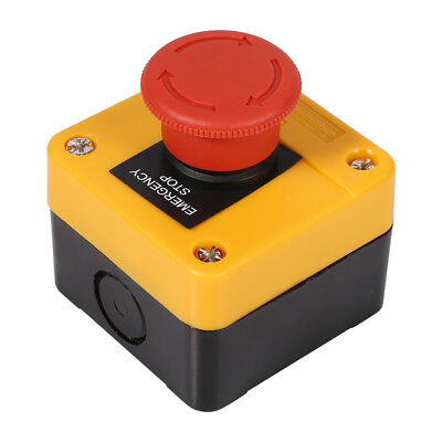 660V 10A Plastic Shell Red Sign Emergency Stop Mushroom Push Button Switch
