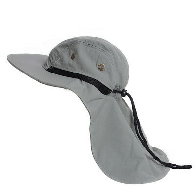 Outdoor Fish Camping Hunting Boonie Snap Hat Brim Cap Neck Cover sun flap