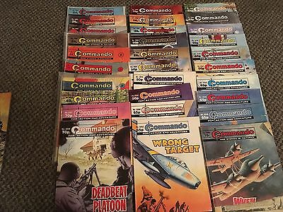 Job Lot Of 30 Commando Comics - Good Condition -