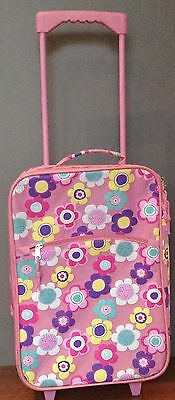 Girls Suitcase Pink With Flowers