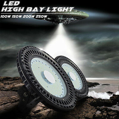 100W 150W 200W 250W UFO LED High Bay Light Warehouse Industrial Factory Gym Lamp