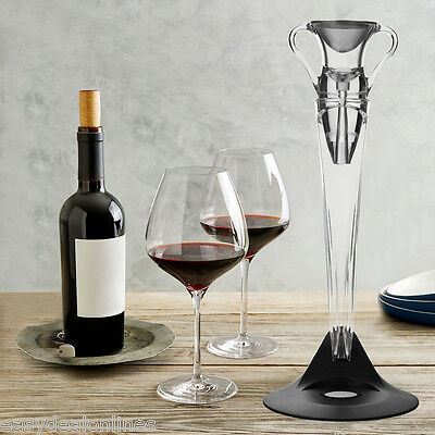 Amphora-Shaped Acrylic Wine Aerator with Stand 7-Piece Gift Set With Accessories
