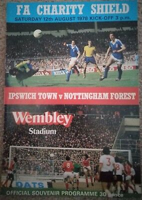 Football programme - Ipswich v Nottingham Forest Charity Shield 1978