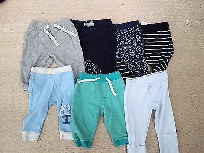 Boys 3-6 Months Trousers Jogging Bottoms Bundle 7 Items
