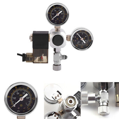 Aquarium System Dual Gauge CO2 Pressure Regulator Bubble Counter Solenoid Valve