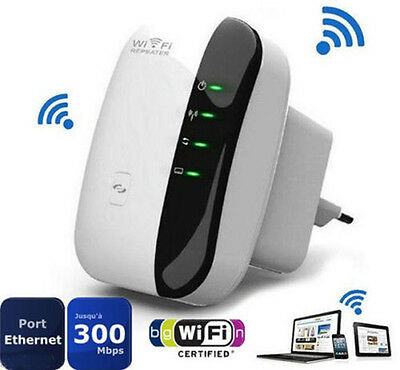 300Mbps 802.11 Wifi Repeater Wireless-N AP Signal Extender Booster EU Plug RF