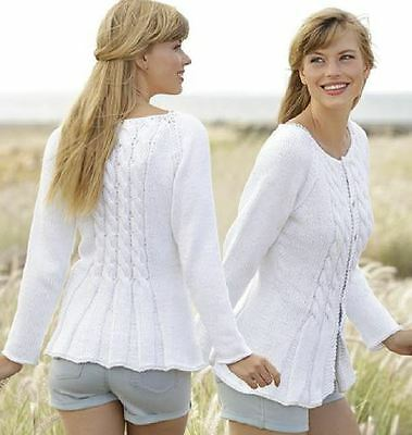 Knitting Pattern Lady's Gorgeous Cotton Aran Cable Jacket/Cardigan S-XXXL  (5)