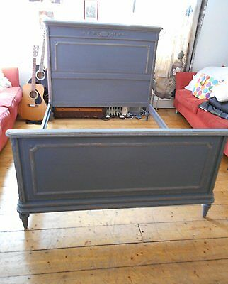 Original   Victorian  /  French  Distressed  Double  Bed  Shabby  Chic
