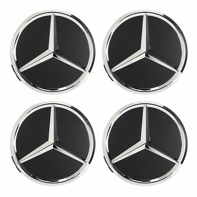 2017 (Set of 4)Classic 75mm Center Hubcap Replace Caps Wheel Cover for Mercedes