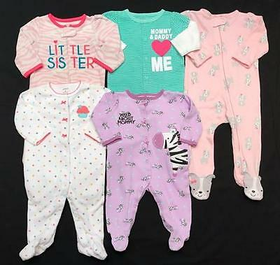 Baby GIRL 6 months 6-9 months CARTER'S SLEEPER PAJAMA Clothes LOT