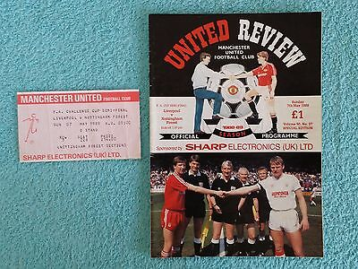 1989 - FA CUP SEMI FINAL PROGRAMME + MATCH TICKET - LIVERPOOL v NOTTS FOREST