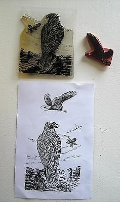 Birds Of Prey Rubber Stamps X 2