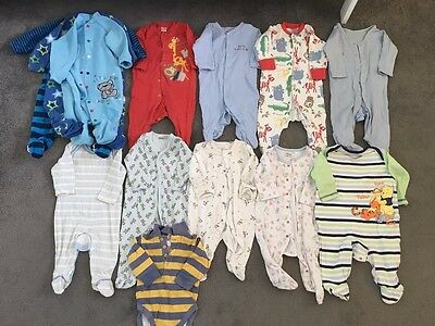 Baby Boy Sleepsuits Bundle, 3-6 Months