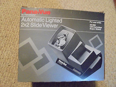 Pana-Vue-Automatic Lighted 2X2 Slide Viewer-Used-Ex. Condition-Vintage View Mast