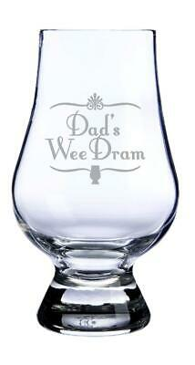 """Glencairn Whisky Glass - """"Dad's Wee Dram"""" Made In Scotland"""