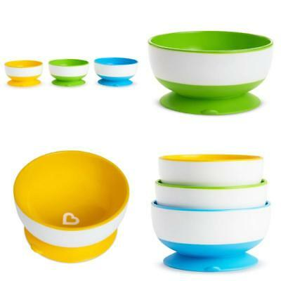 Suction Cup Bowls Munchkin Stay Put Bowl 3 Pack Baby Food Feeding Accessories