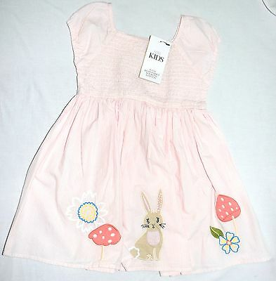 New + Tags Dress Age 5-6 Years Holidays summer sun Marks and Spencer Pink Stripe