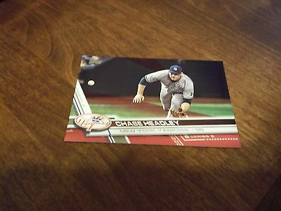 """2017 Topps baseball series 2 """"Red Bordered"""" card of Chase Headley 08/50"""