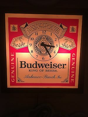 Authentic Vintage Budweiser Clock - REDUCED PRICE!