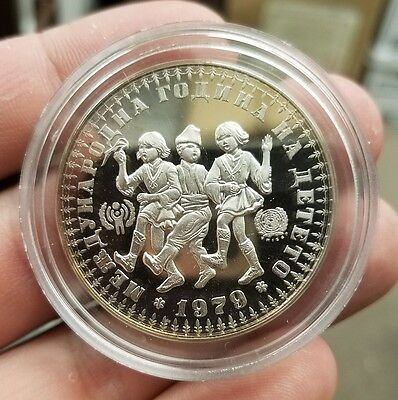 1979 Bulgaria 10 Leva Year of the Child Sterling Silver Proof
