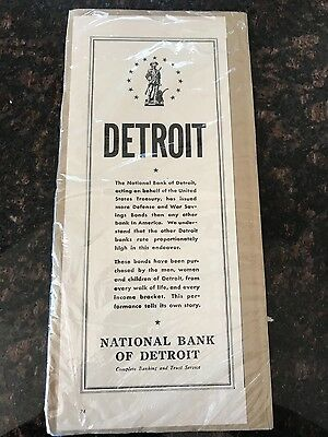 National Bank of Detroit Antique WWII Advertisement