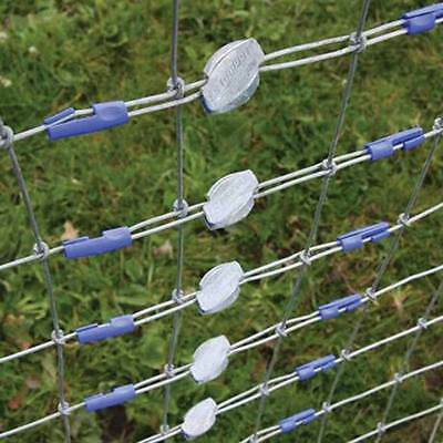 500 X GRIPPLE TWISTERS - Ties Up Loose Wire Ends On Joined Fences Blue Plastic