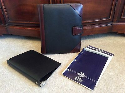 CLASSIC Black Leather Stephen Marks UNSTRUCTURED Franklin Covey Planner Binder