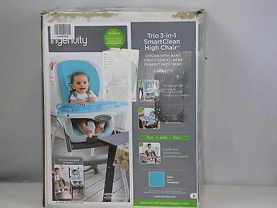 Ingenuity Trio 3 in 1 SmartClean Highchair, Baby Feeding High Chair Seat