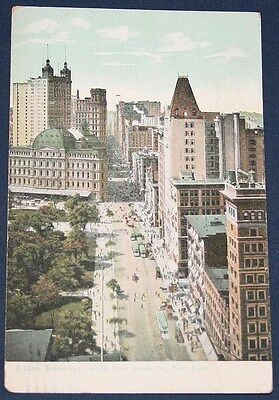 Broadway, South from Reade St., New York, NY Postcard 1909