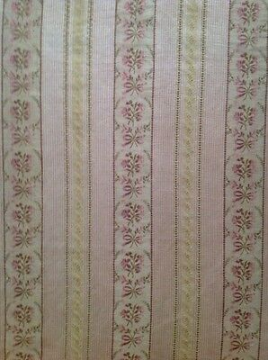 Antique French Pink Floral Lisere Brocade Fabric