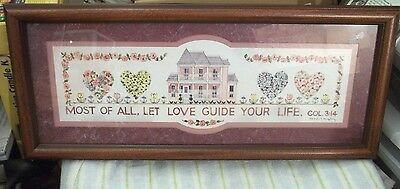 "NEW framed ""Let Love guide your Life"" Wall hanging/Picture HOME INTERIORS"