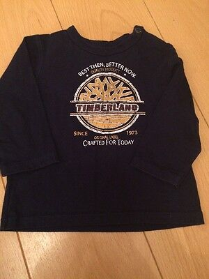 Baby Boys Timberland Long Sleeve Top Age 12mths