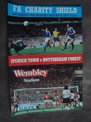 1978 Charity Shield - Ipswich Town V Nottingham Forest (Wembley Stadium)