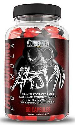 Condemned Labz Arsyn 60 Capsules Fat Burner Pre Workout Dmha Shred Strong Energy