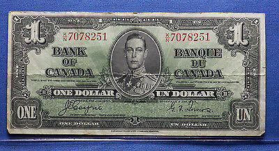 1937 Canadian Bank Note $1 Nice Condition.