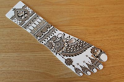 Strong White Top Quality Acrylic Practice Henna/Mehndi Leg/feet!