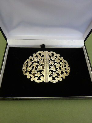 SILVER NURSES BELT BUCKLE, AS LONDON 1961, Shamrock Design